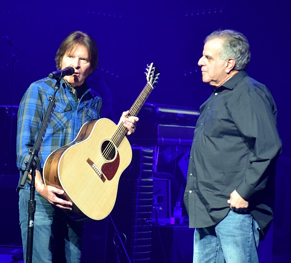 John Fogerty Presents Gibson Guitar to Veterans Village Founder Arnold Stalk at Wynn Las Vegas