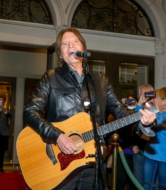 "John Fogerty sings an acoustic version of his classic hit ""Have You Ever Seen the Rain"""