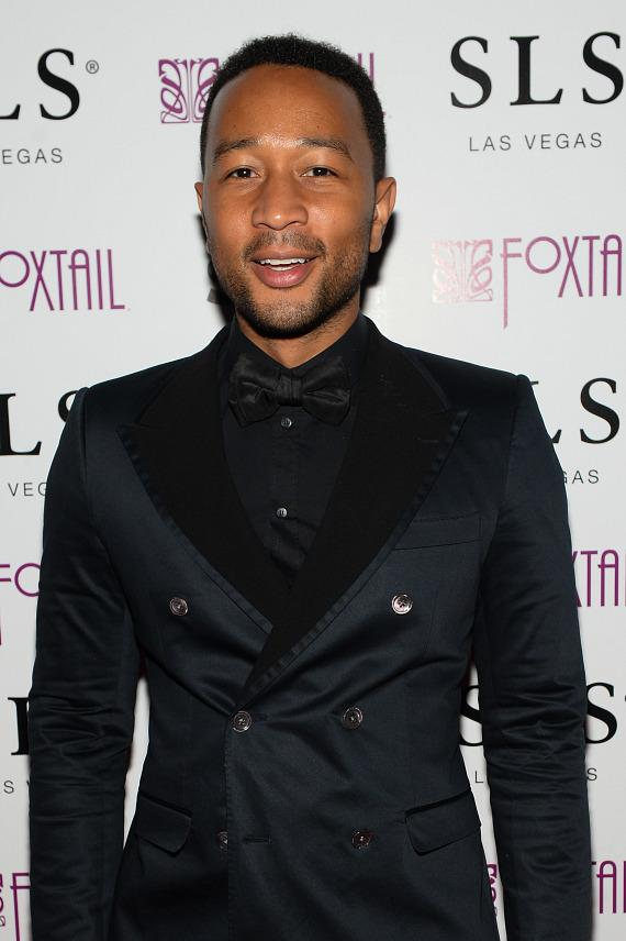 John Legend on red carpet at Foxtail Nightclub