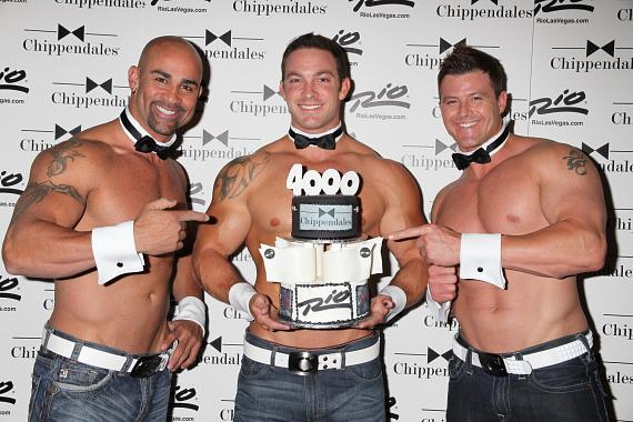 Chippendales dancers John Rivera, J.J. May and Nathan Minor