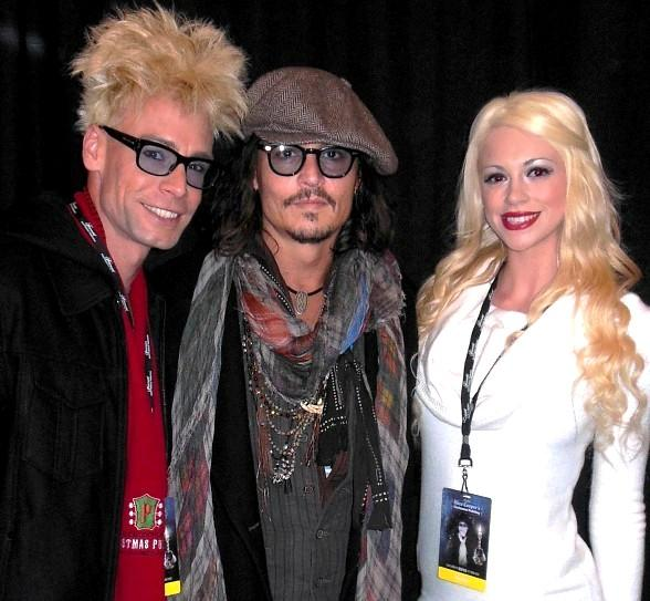Murray Sawchuck, Johnny Depp and Chloe Crawford