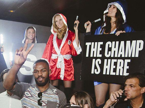 Jon Jones at Hakkasan Nightclub