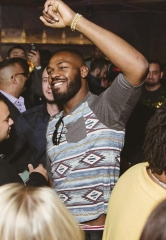 UFC Fighter Jon Jones Celebrates Victory at Hakkasan Nightclub
