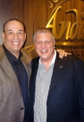 """Bar Rescue"" star Jon Taffer dines at Andiamo Italian Steakhouse with owner Derek Stevens at the D Las Vegas"