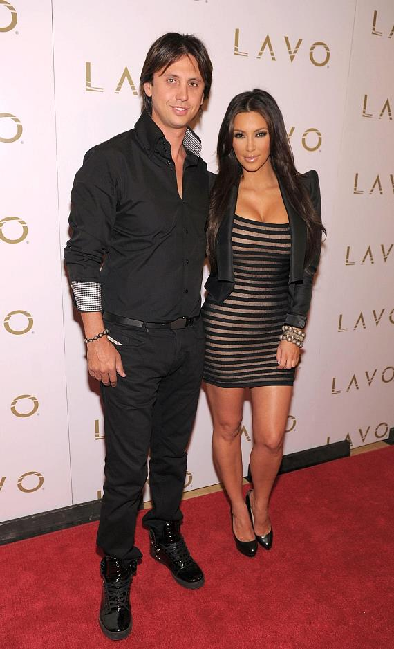 Jonathan Cheban and Kim Kardashian at LAVO