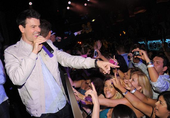 Jordan Knight performs inside Chateau Nightclub & Gardens