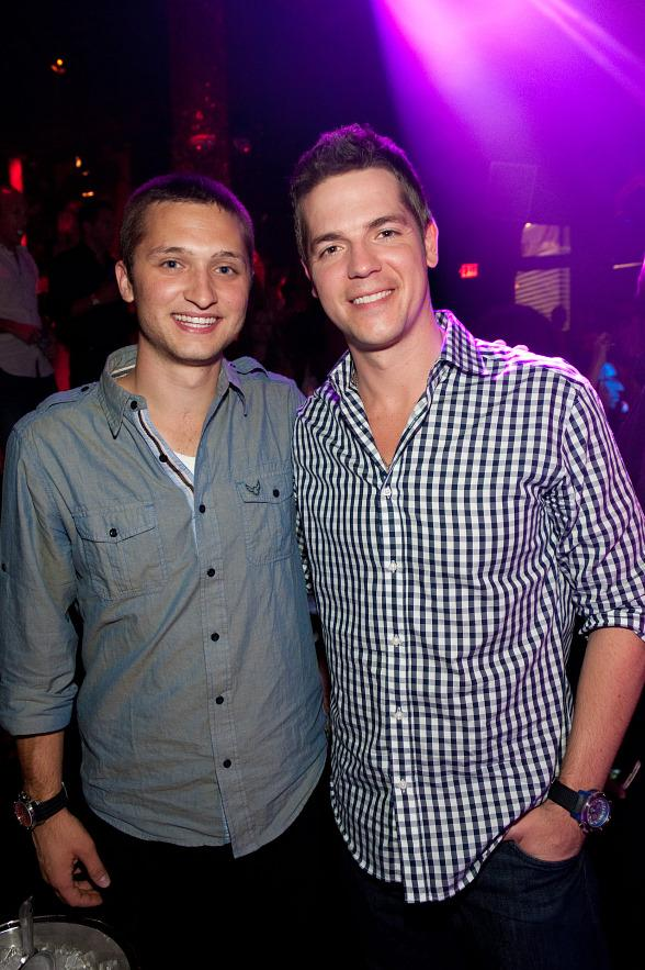 Jordan Wagner and Jason Kennedy at TAO