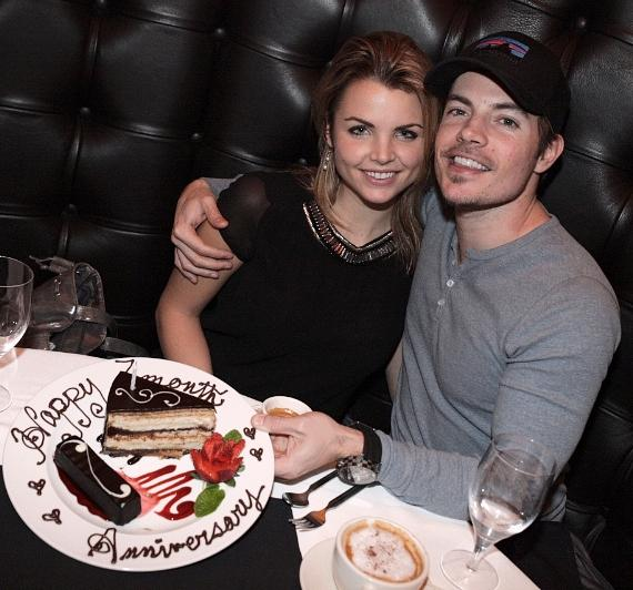 Josh Henderson and Andrea Boehlke celebrate anniversary at Andiamo Steakhouse at the D Las Vegas
