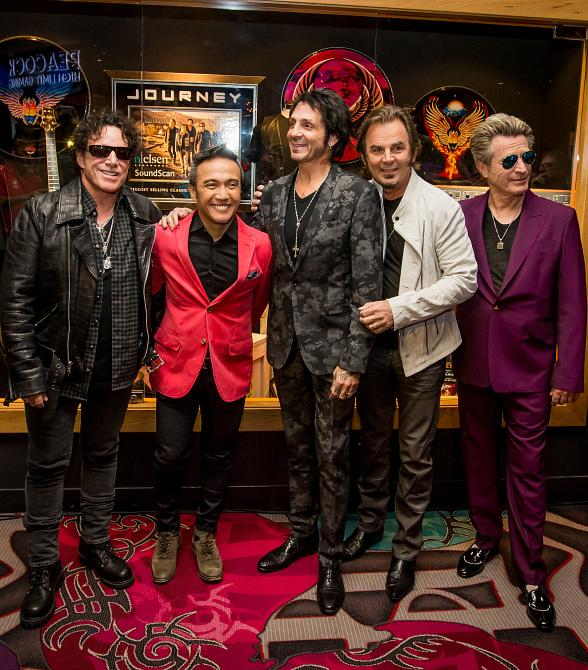 Journey and Neal Schon Unveil Memorabilia Cases at Hard Rock Hotel & Casino Las Vegas