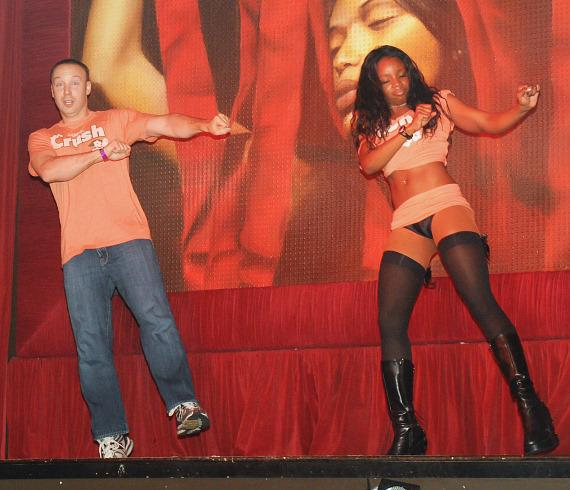 Judson Laipply performs Evolution of Dance at TAO
