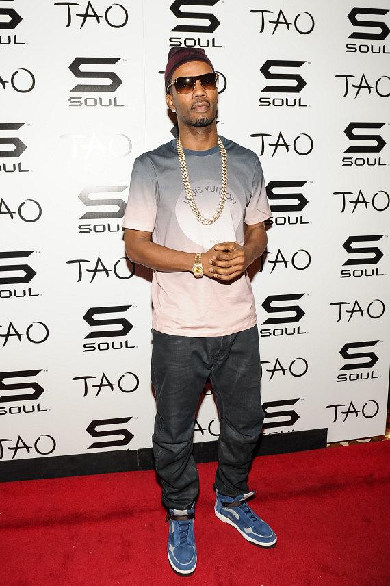 Juicy J on red carpet at TAO Nightclub in Las Vegas