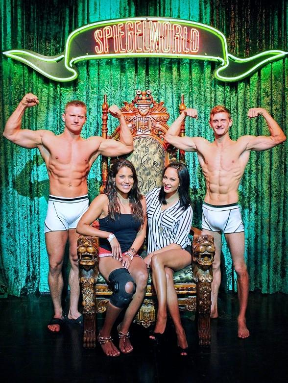 UFC Fighter Julianna Pena and Host Kenda Perez Attend ABSINTHE at Caesars Palace