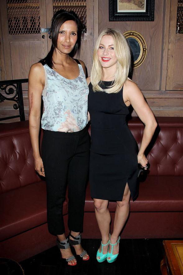 Julianne Hough and Padma Lakshmi 