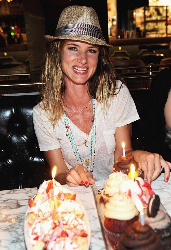Juliette Lewis with Sugar Factory American Brasserie's decadent desserts