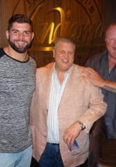 NFL Star Justin Pugh Dines at Andiamo Italian Steakhouse at the D Las Vegas