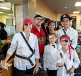 "Pirate Impersonators Celebrate National ""Talk Like A Pirate Day"" at Krispy Kreme"