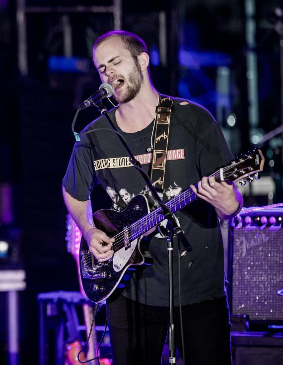 KONGOS perform during OBC presented by X107.5 at Boulevard Pool at The Cosmopolitan