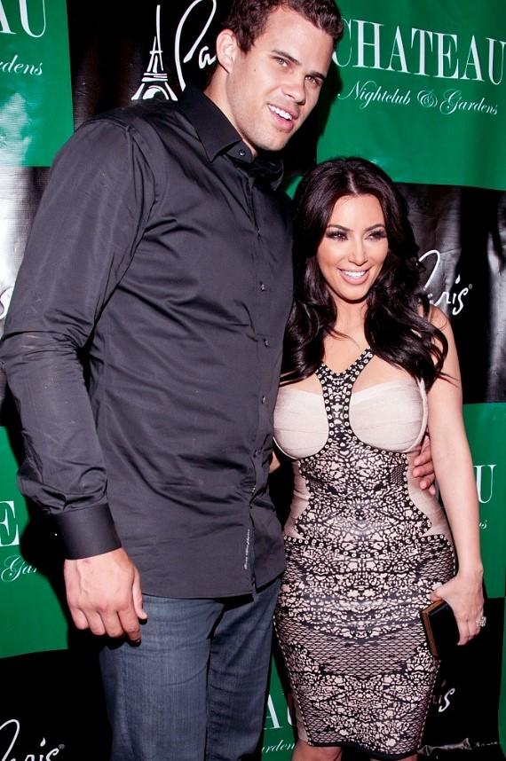Kim Kardashian and her fiancé Kris Humphries