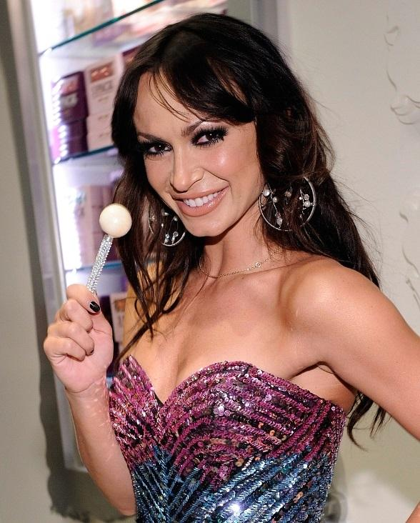Karina Smirnoff enjoys a Sugar Factory Couture Pop