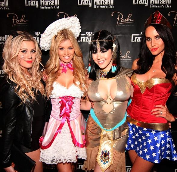 Karissa Pukas, Sheridyn Fisher, Claire Sinclair and Lauren Vickers at Posh Boutique Nightclub inside Crazy Horse III