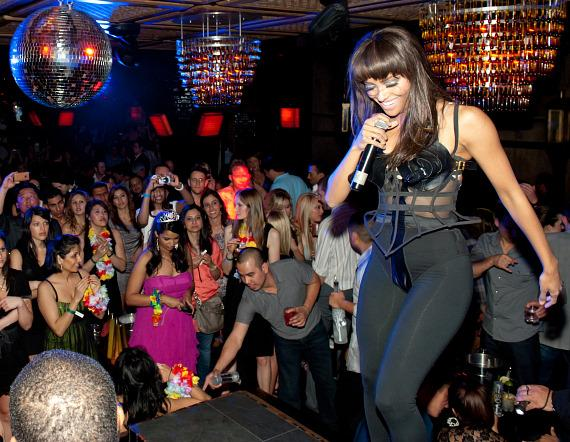 Kat Graham performs at LAVO