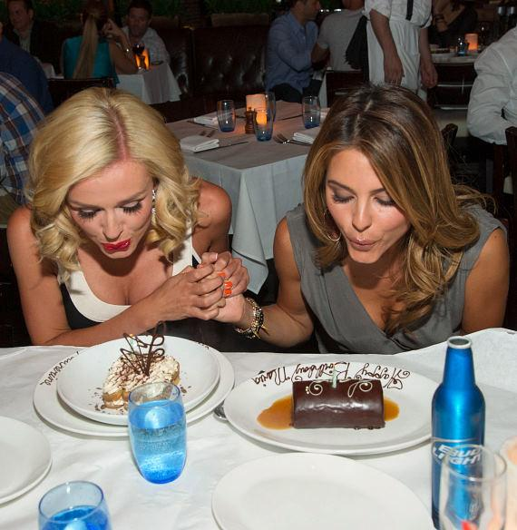 Katherine Jenkins and Maria Menounos at LAVO