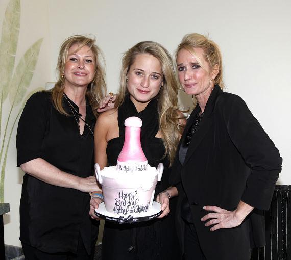 Kathy Hilton, Whitney Davis and Kim Richards with cake