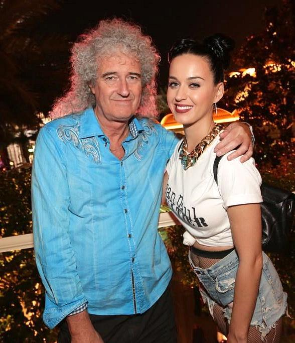 Katy Perry (R) and Brian May at Botero in Wynn