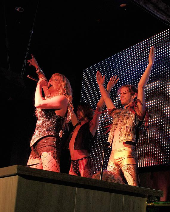 """Ke$ha performing at Chateau Nightclub & Gardens for her official """"Get Sleazy"""" tour after party"""