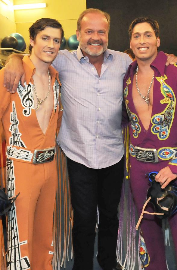 Kelsey and the superheroes of Viva ELVIS by Cirque du Soleil 