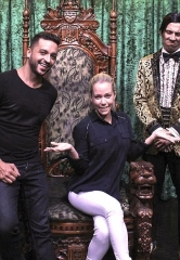 Kendra Wilkinson and Jai Rodriguez Spotted at ABSINTHE at Caesars Palace in Las Vegas