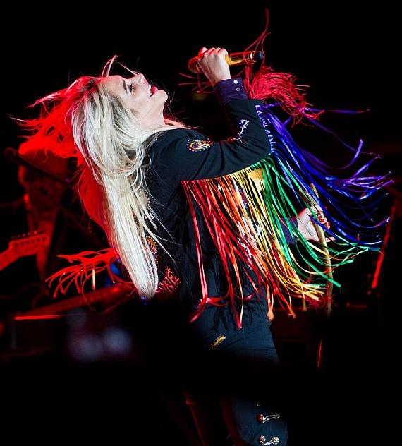 Kesha sings her top tracks during a show at M Pool on Saturday, Sept. 16