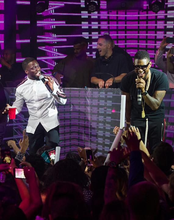 Kevin Hart & Usher at The Official HartBeat Weekend After Party