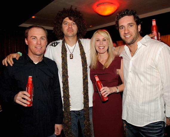 Kevin Harvick, Skyskrape, DeLana Harvick, and Elliott Sadler at TAO