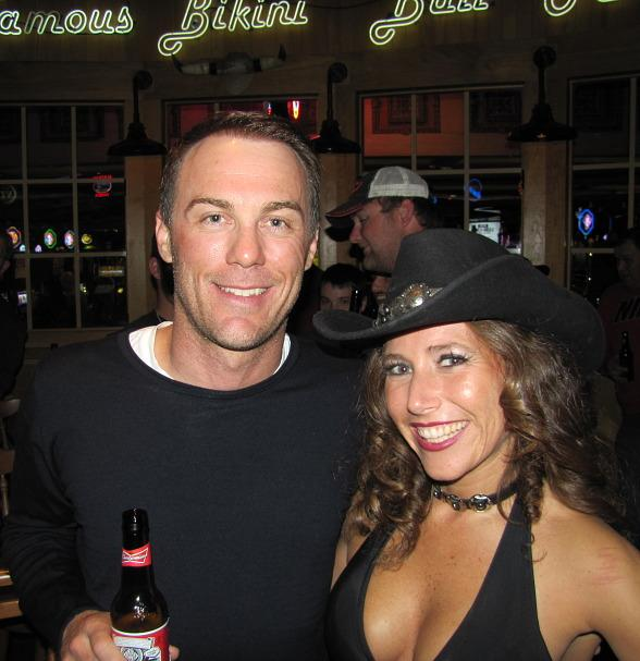 Kevin Harvick with one of the Gilley's girls