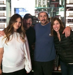 Adam Sandler and Kevin James Dine at Martorano's at Paris Las Vegas