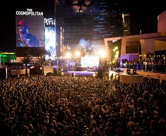 Kid Cudi performs at The Boulevard Pool at The Cosmopolitan of Las Vegas