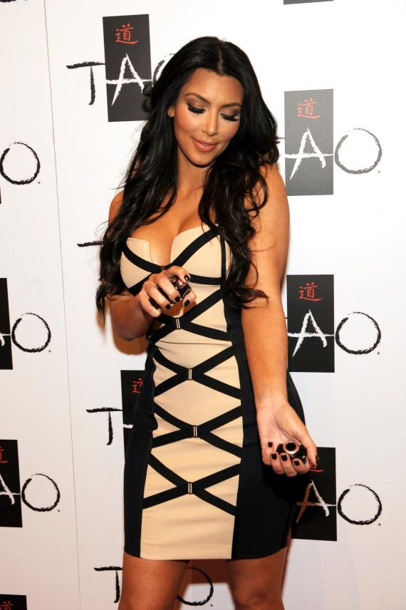 Kim Kardashian celebrates fragrance launch at TAO