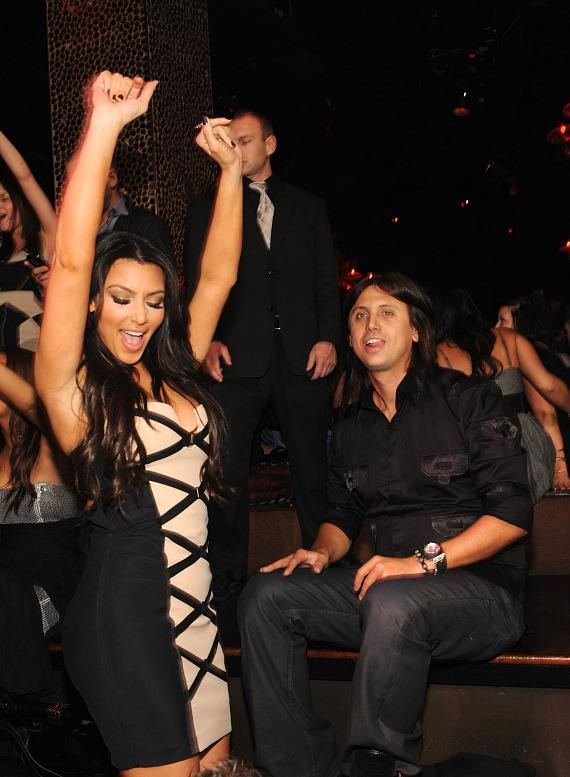 Kim Kardashian and Jonathan Cheban at TAO