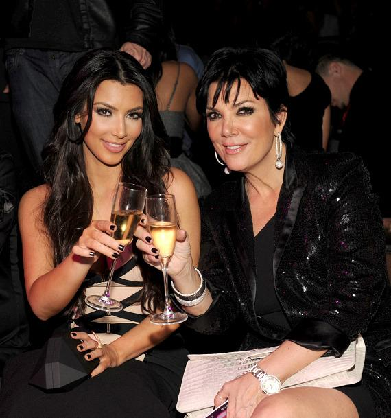 Kim Kardashian and Kris Jenner at TAO