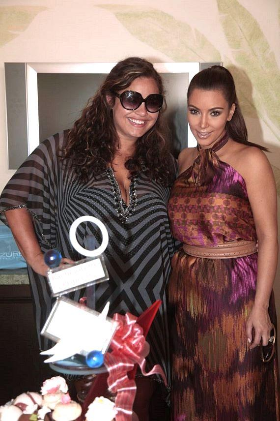 Kim Kardashian and Khaela Humphries