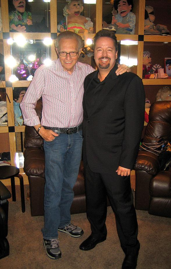 Larry King Attends Terry Fator's Show at The Mirage