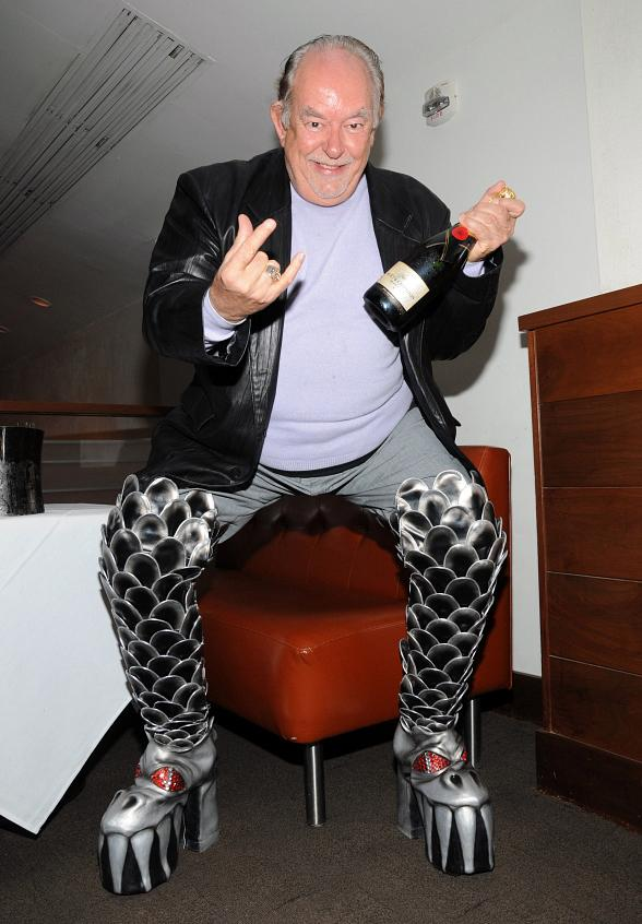 Robin Leach at SPAGO at Caesars Palace Las Vegas in KISS Boots