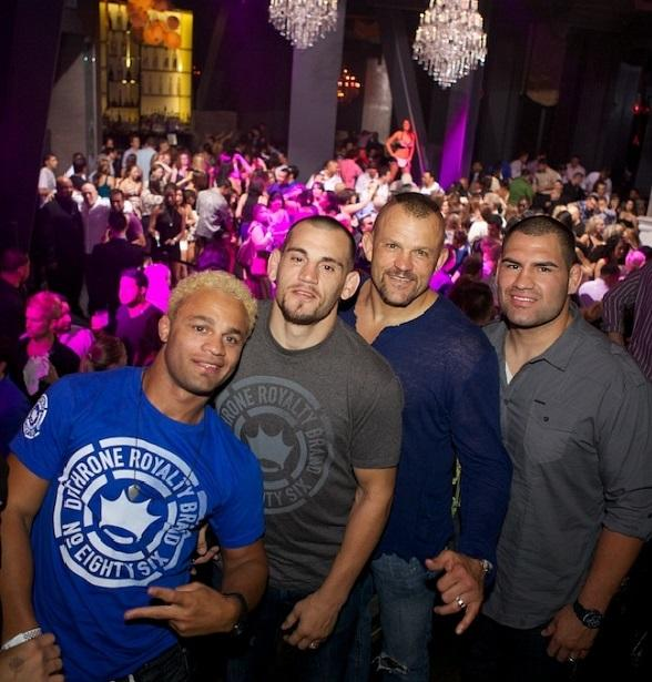 Josh Koscheck, Jon Fitch, Chuck Liddell and Cain Velasquez at Chateau Nightclub & Gardens at Paris Las Vegas
