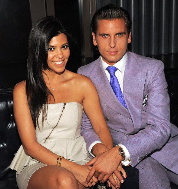 Kourtney Kardashian and Scott Disick at Chateau Nightclub