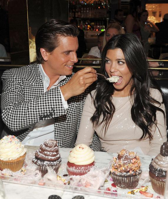 Scott Disick feeds Kourtney Kardashian sweet treats at Sugar Factory American Brasserie at Paris Las Vegas