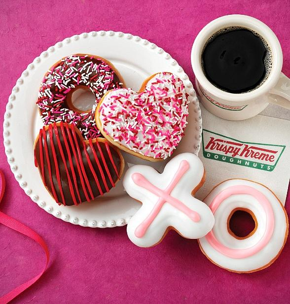 Say Something Sweet to the One You Love with Krispy Kreme's Valentine's Day Themed Doughnuts
