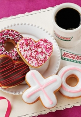 Krispy Kreme to Offer Kiss, Hug and Heart-Shaped Doughnuts for Valentine's Day