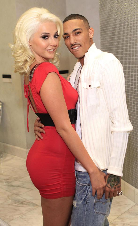 Kristina Shannon and her boyfriend, TestMe, at COLOR: A Salon by Michael Boychuck at Caesars Palace in Las Vegas