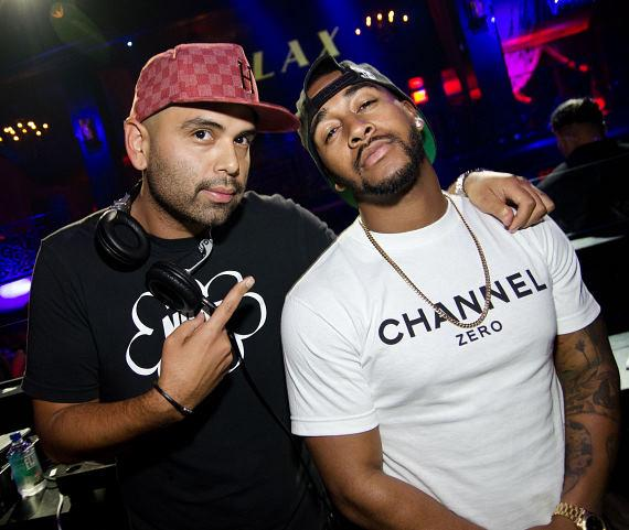 DJ Gusto and Omarion at LAX Nightclub